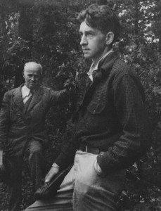 Paul Schaefer, rt., with John Apperson 1947