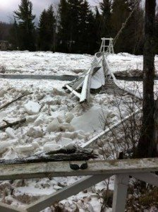 Wanakena Ice Jam Bridge