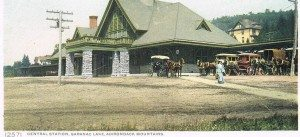 Union Depot in Saranac Lake. Postcard courtesy of Wayne Tucker