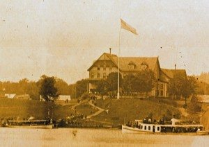 1895 Forge House flag raising