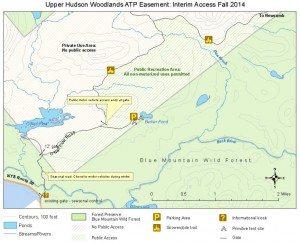 Township 19 Tract Upper Hudson Woodlands Easement Lands Map