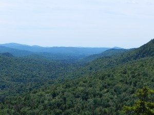 Wilderness around Fulton Chain from Castle Rock above Blue Mountain Lake