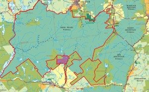 Adirondack National Park Smaller