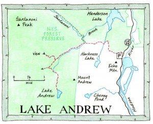 Lake Andrew Map by Nancy Bernstein