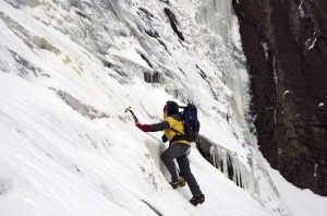 NP climbs up to the wall along the seam of the east and southeast face of Giant Mountain.