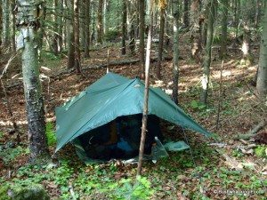C&site on MacDonough Mountain & Backcountry Gear Choices: Tent Or Tarp? - - The Adirondack Almanack