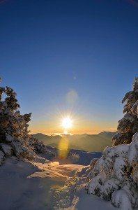 Sunset on the summit of Giant Mountain.