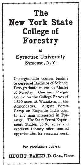 American Forestry 1916 advertisement