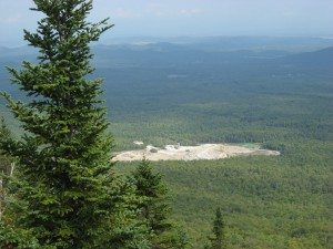 NYCO's open pit mine as seen from Bald Peak in 2013