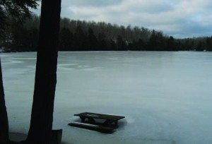 Woodworth lake in Winter photo by Dave Gibson