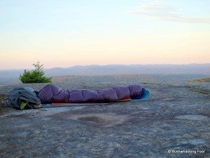 Highlite sleeping bag on Cat Mtn