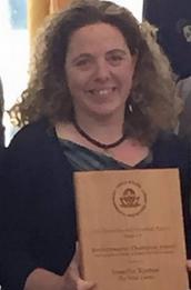 Jen Krester with EPA Award