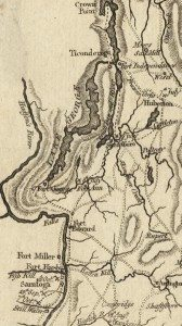 18th century Map of Lake George and Warren Washington Counties