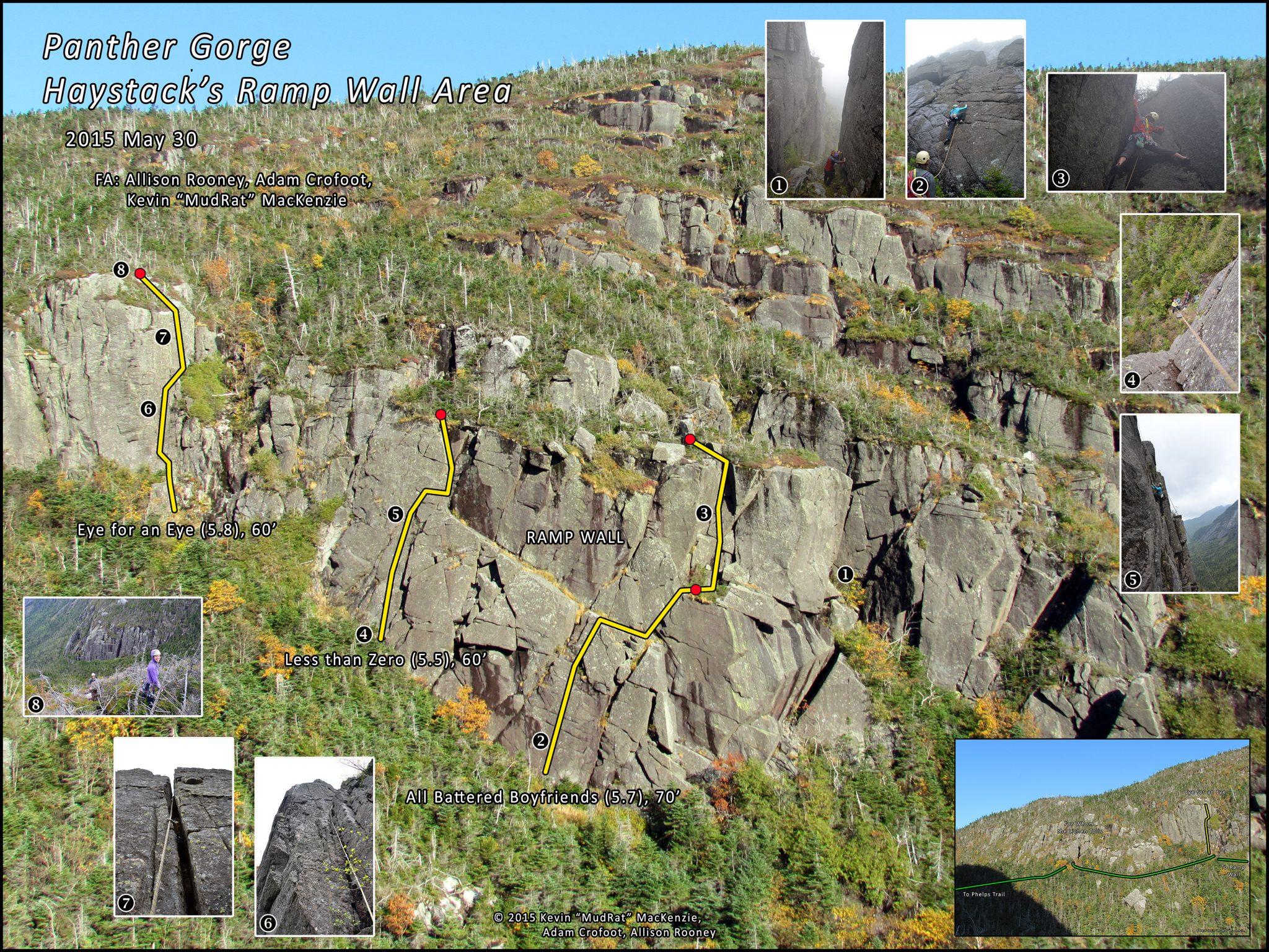 Panther Gorge Ramp Wall