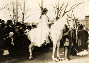 Inez Milholland leading the Suffrage Parade on March 3, 1913