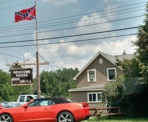 Newcomb House Confederate Flag