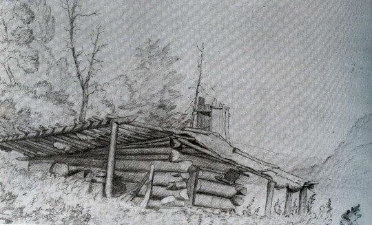 Wood's Cabin 1851 Jervis McIntee