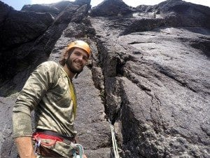 Hunter Lombardi on pitch 2 of Rumours of War in Panther Gorge