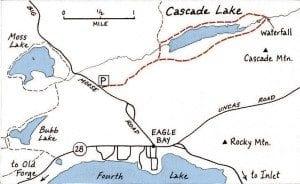 Cascade Lake map