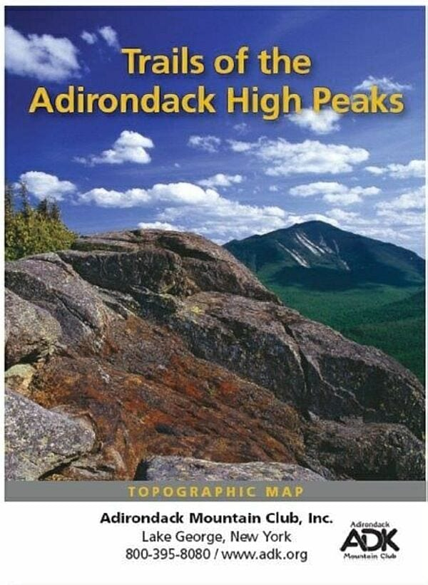Review: ADK's New Topo Map Of The High Peaks - - The Adirondack Almanack