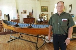 Jim Martino head of the Lake George Buildings and Grounds department in the restored LG courtroom