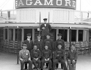 Sagamore crew by Fred Thatcher published with permission of Bolton Historical Society