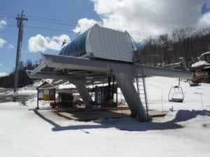 West Mountain Triple Chair lift in vermont b