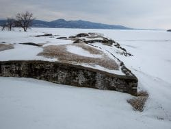 Crown Point Fort in winter