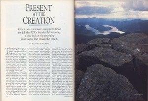 Adirondack life story present at the creation