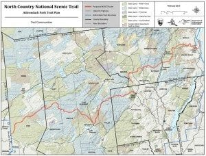 North Country National Scenic Trail Map