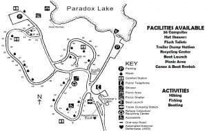 Paradox Lake Campground Map