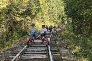 Rail Explorers between Saranac Lake and Lake Clear on September 24, 2015