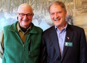 Peter Paine and Bill Owens - Courtesy Adirondack Foundation