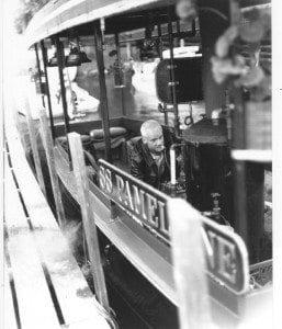 Mason Saunders aboard the Pamelaine - Lake George Mirror File Photo