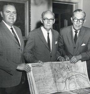 Mayor Donnelly, Ralph Lapham, Frank Morey 1967