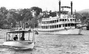 The Pamelaine racing the Minne Ha-Ha on Lake George - Lake George Mirror File Photo