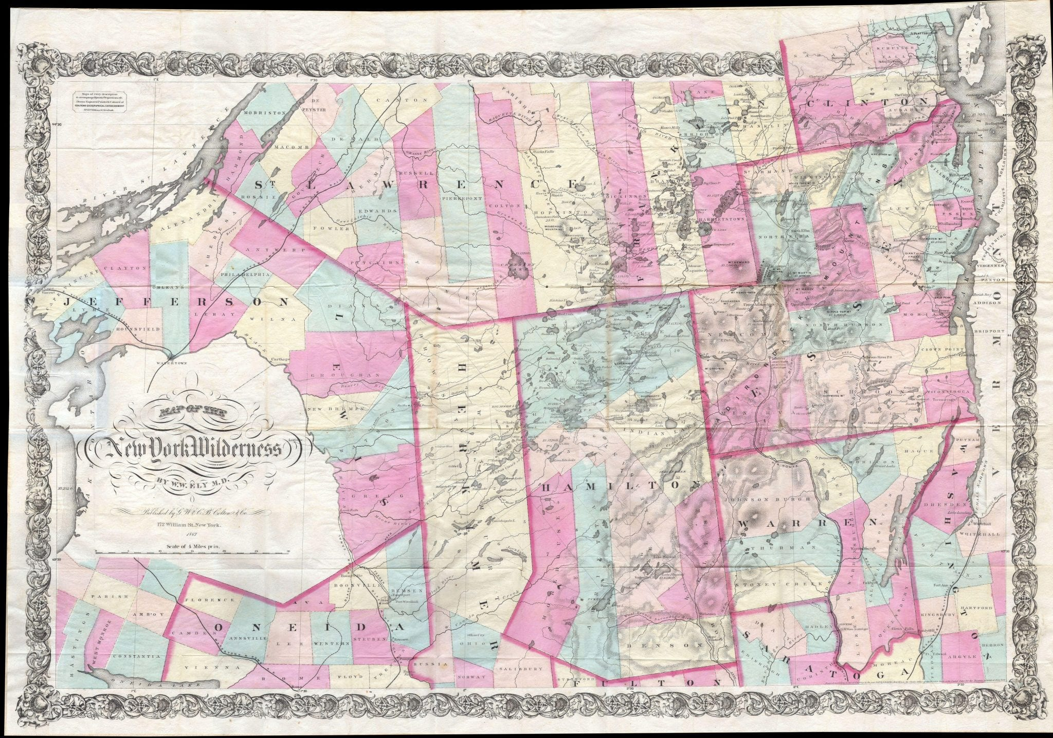 A Mystery Map of the Adirondacks   The Adirondack Almanack
