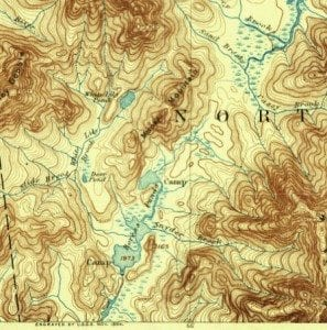 1895 Marcy map