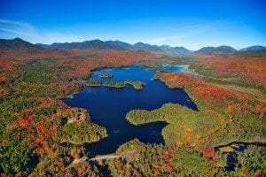 Boreas Ponds Dam aerial photo by Carl Heilman