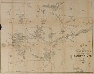 Merritt 1860 Map of Raquette Lake