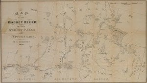 Merritt 1860 Map of Raquette Lake (North)