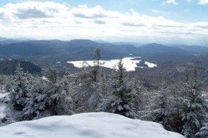 the view of Pharaoh Lake from Treadway's summit (photo courtesy Adirondack Mountain Club)