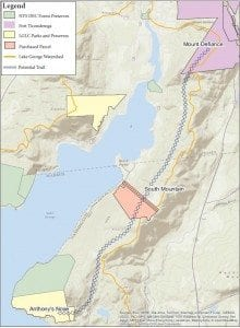 North Basin Lake George Map