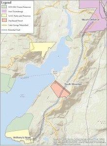 North Basin Lake George Map
