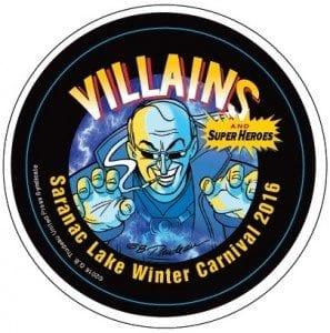 Saranac Lake Winter Carnival 2016 Button - Villain