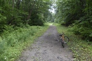 bike in Essex Chain of Lakes Primitive area