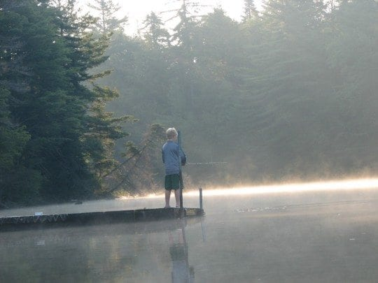 fishing pier at eighth lake campground