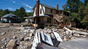 Tropical Storm Irene destroyed or damaged many buildings in Keene and other hamlets in 2011.Photo by Nancie Battaglia