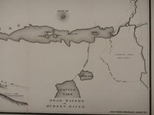 Contemporary large map of proposed canal, Rick Rosen
