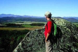 The author on Split Rock Mountain.PHOTO BY ELIZABETH LEE